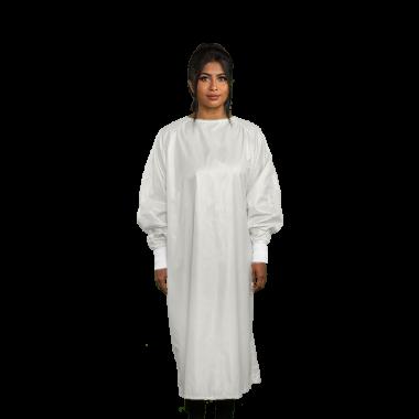 Microfiber Isolation Gown Wraparound Design LEVEL 3 - WHITE