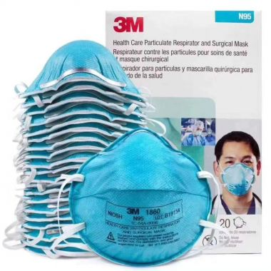 3M Health Care Particulate Respirator and Surgical Mask 1860 Standard Size-Box of 20 - Made in USA