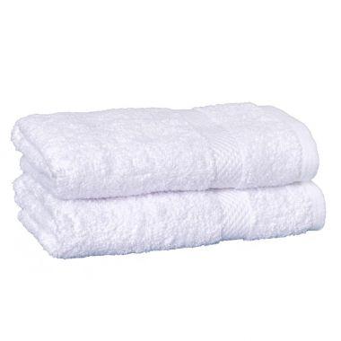 Breeze™100% Egyptian Cotton Hand Towel 16x30 wt.4.50 lbs/dz. Dobby Border White - 12/Pack