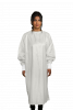 Microfiber Isolation Gown Wraparound Design LEVEL 3 Certified Fabric 99% Polyester / 1% Carbon Microfiber, 0.5cm Antistatic - White